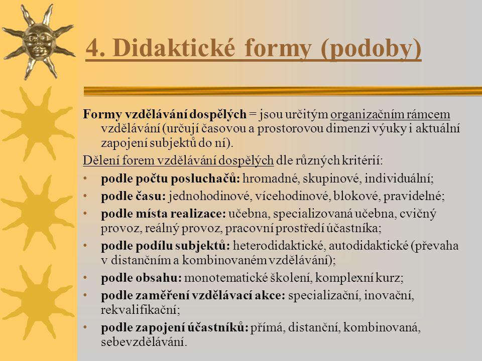 4. Didaktické formy (podoby)