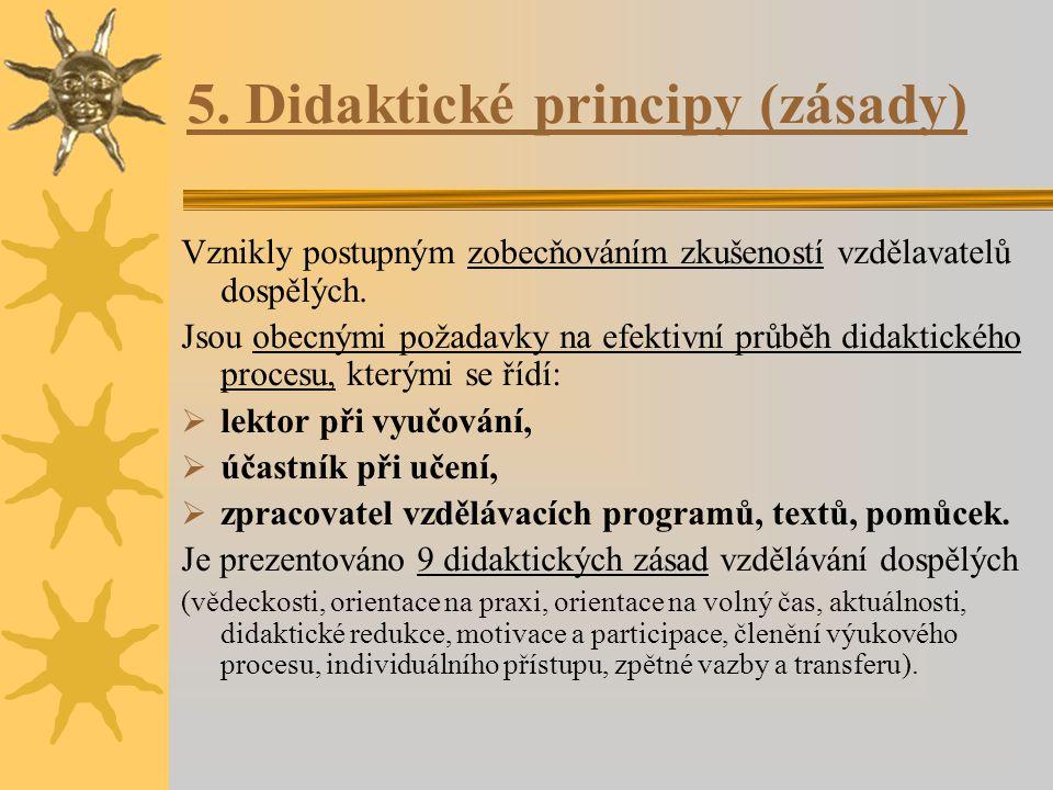 5. Didaktické principy (zásady)