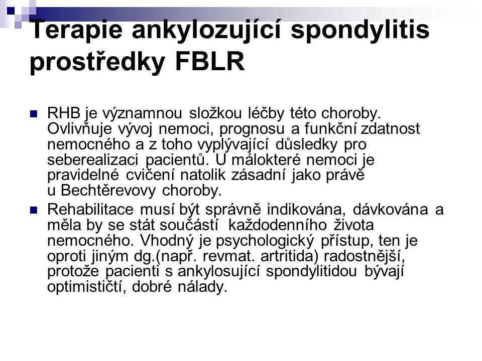 Terapie ankylozující spondylitis prostředky FBLR