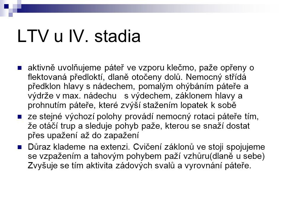 LTV u IV. stadia