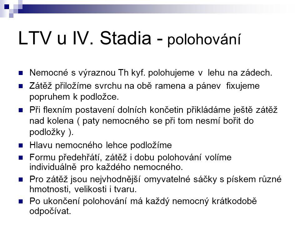 LTV u IV. Stadia - polohování