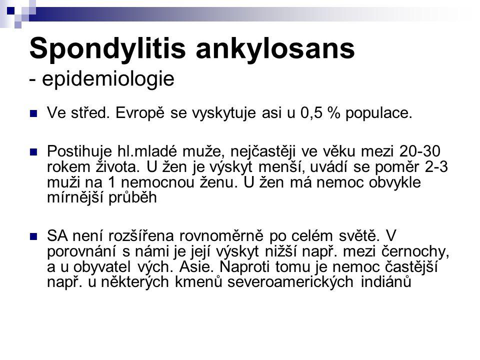 Spondylitis ankylosans - epidemiologie