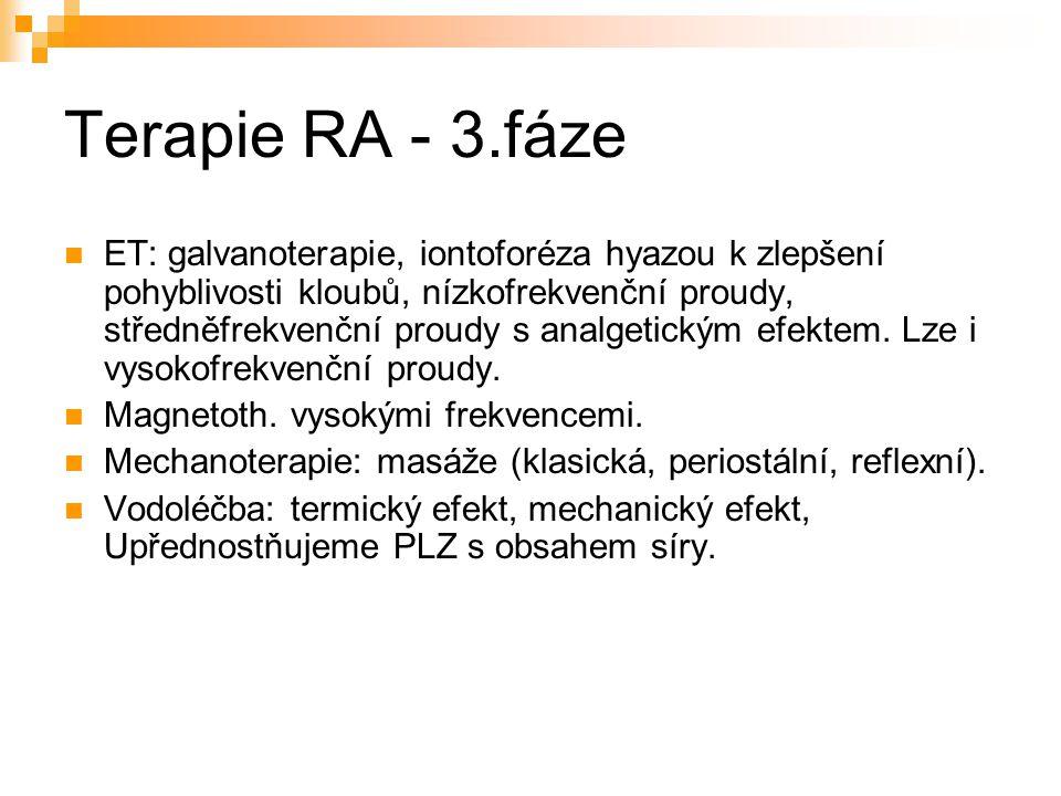 Terapie RA - 3.fáze
