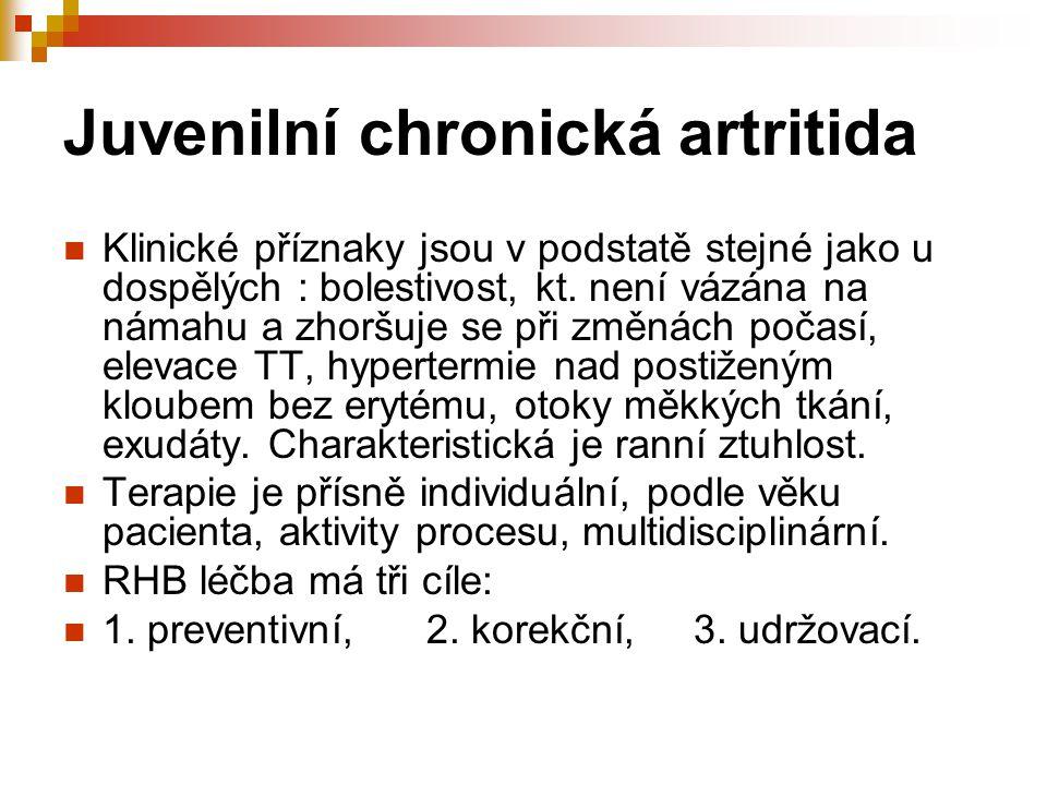 Juvenilní chronická artritida