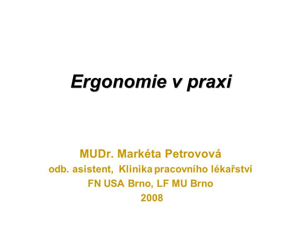 MUDr. Markéta Petrovová odb. asistent, Klinika pracovního lékařství