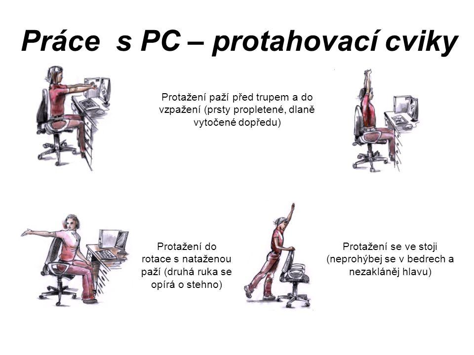 Práce s PC – protahovací cviky