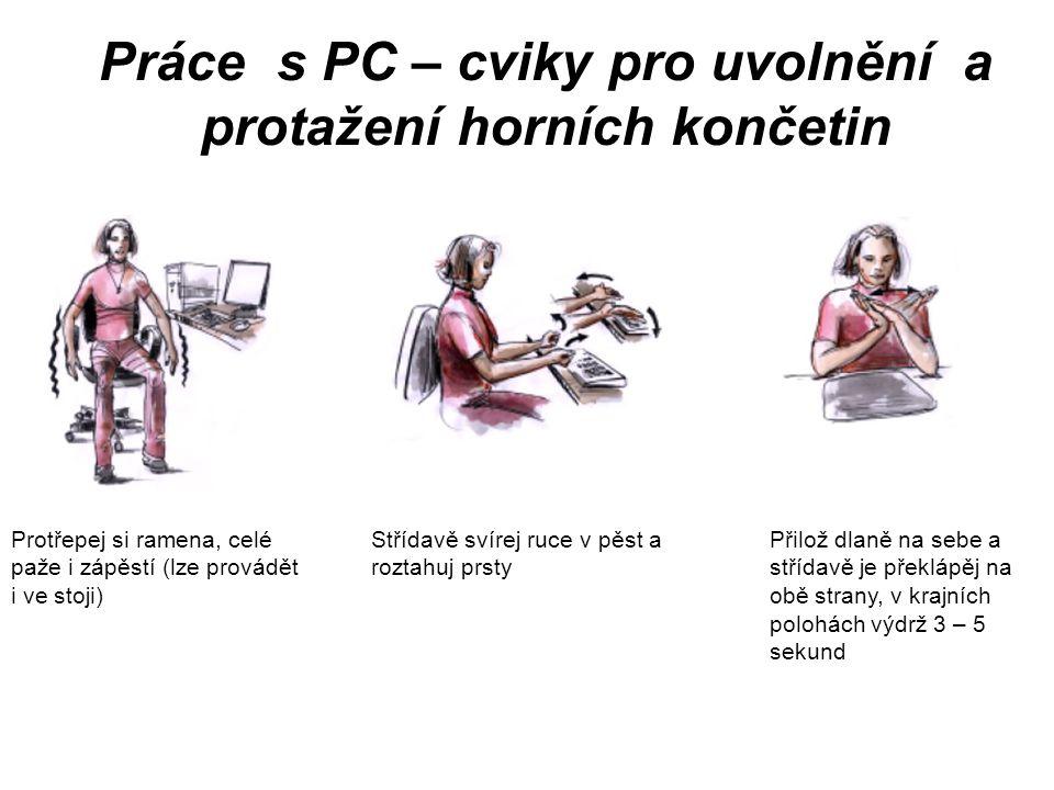 Práce s PC – cviky pro uvolnění a protažení horních končetin