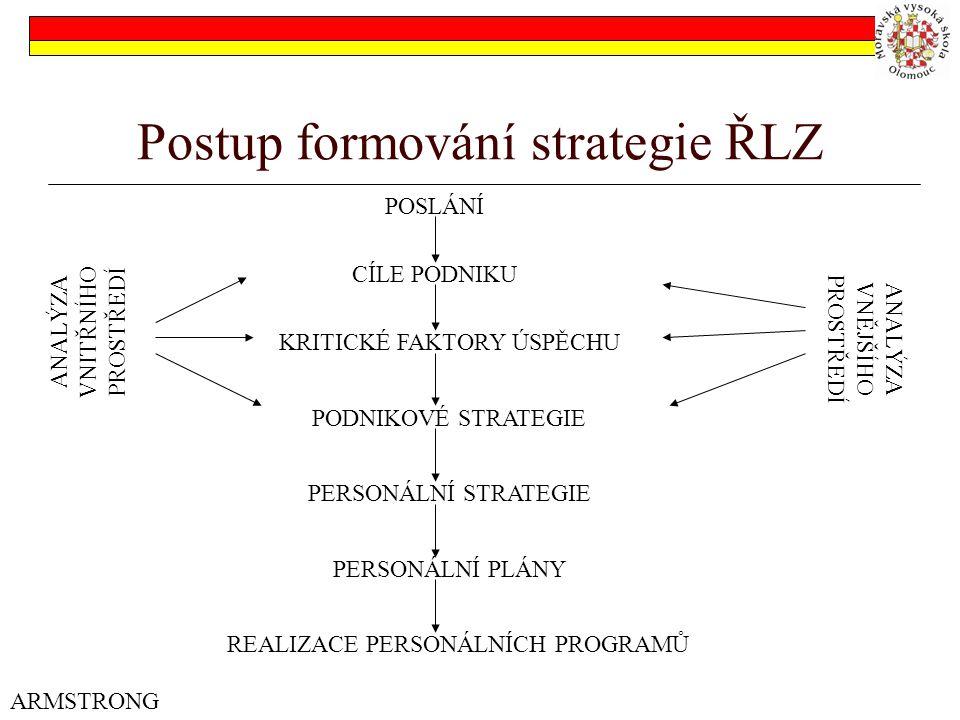 Postup formování strategie ŘLZ