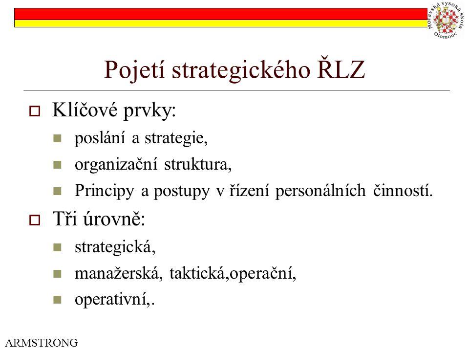 Pojetí strategického ŘLZ