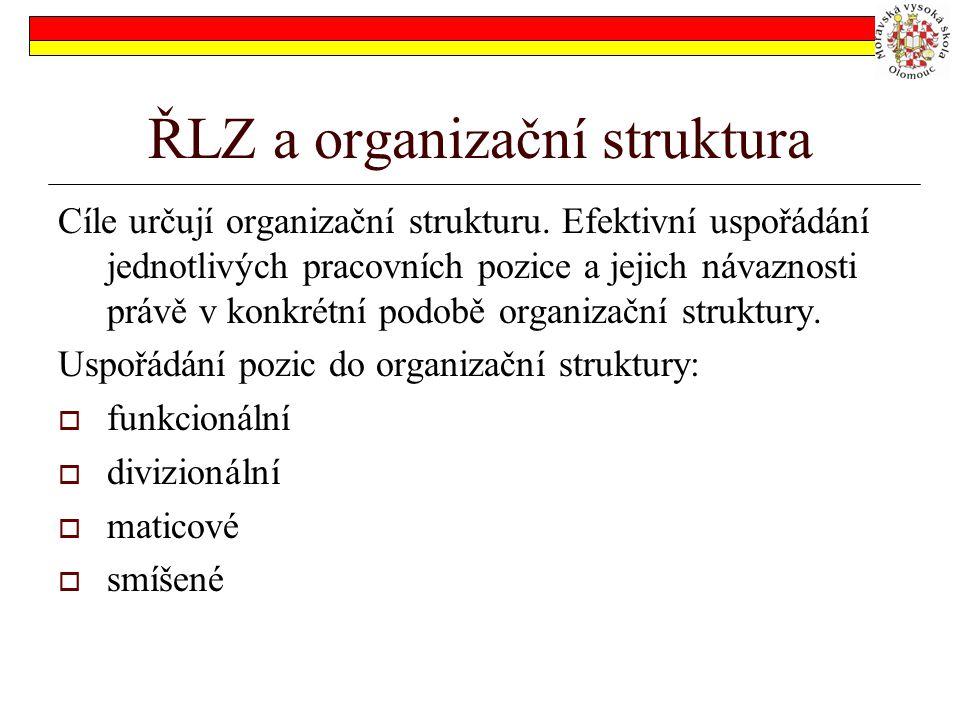 ŘLZ a organizační struktura