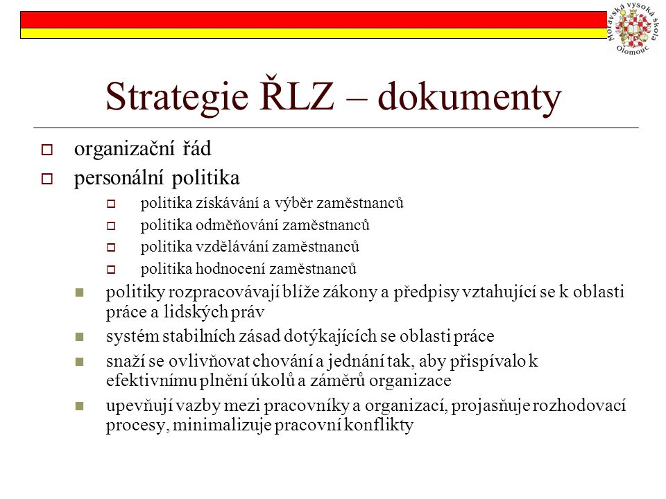 Strategie ŘLZ – dokumenty