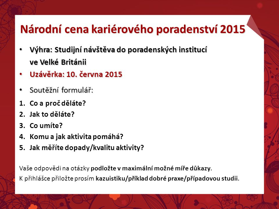 Národní cena kariérového poradenství 2015