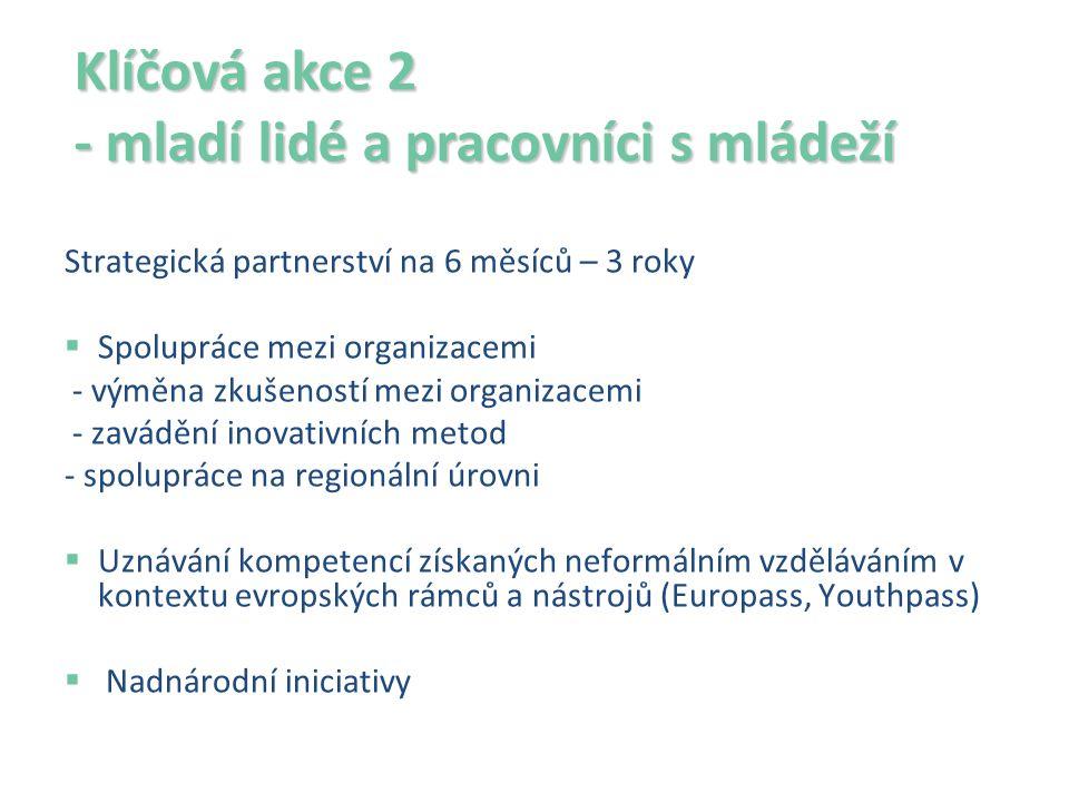 Klíčová akce 2 - mladí lidé a pracovníci s mládeží