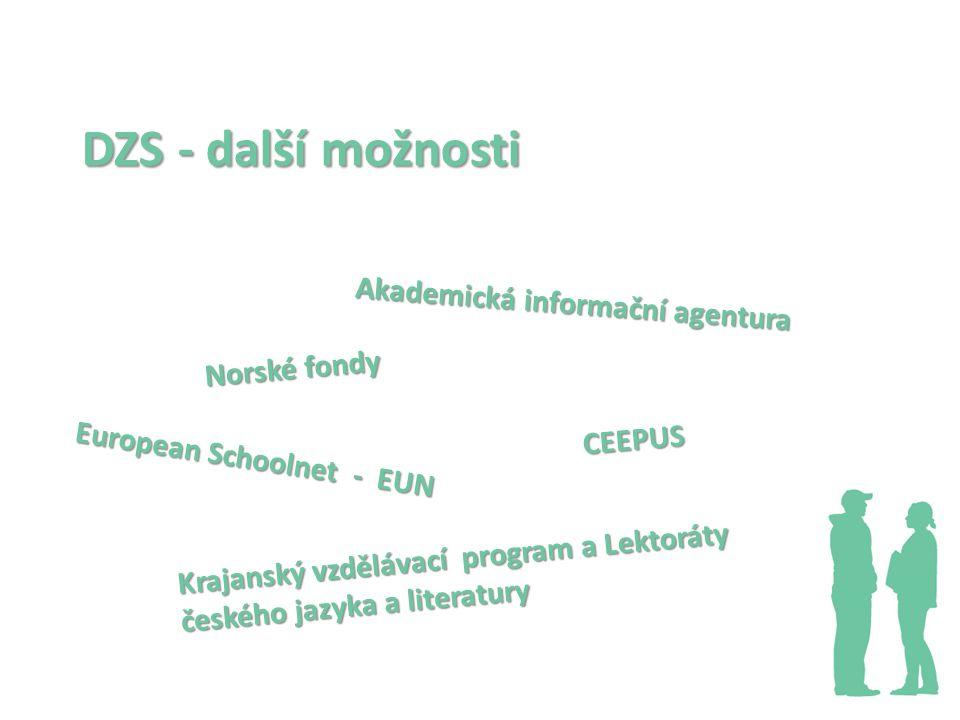 DZS - další možnosti Akademická informační agentura Norské fondy
