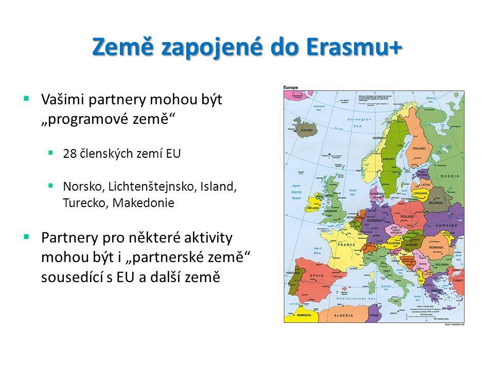 Země zapojené do Erasmu+