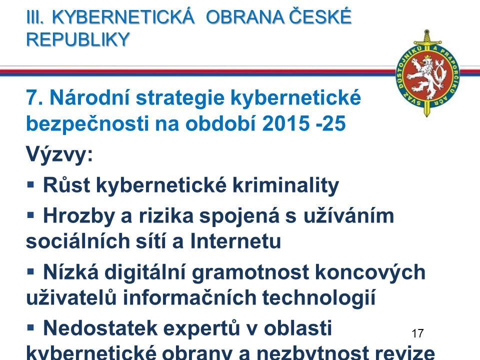 Iii. Kybernetická obrana české republiky