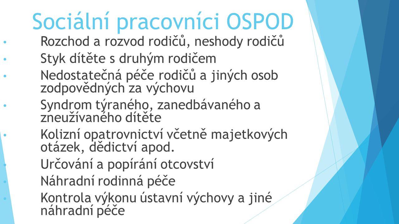 Sociální pracovníci OSPOD