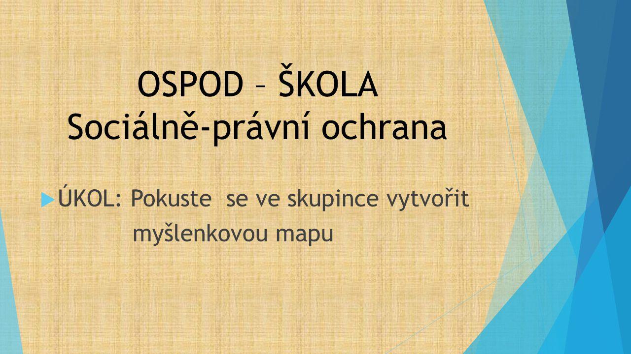 OSPOD – ŠKOLA Sociálně-právní ochrana