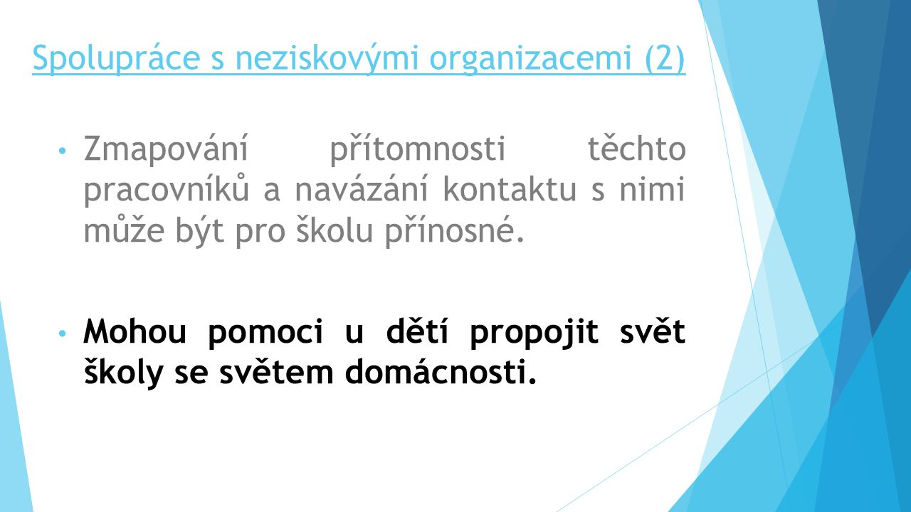 Spolupráce s neziskovými organizacemi (2)