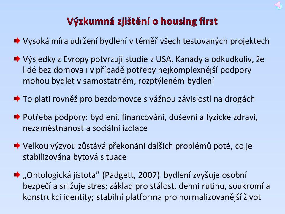 Výzkumná zjištění o housing first