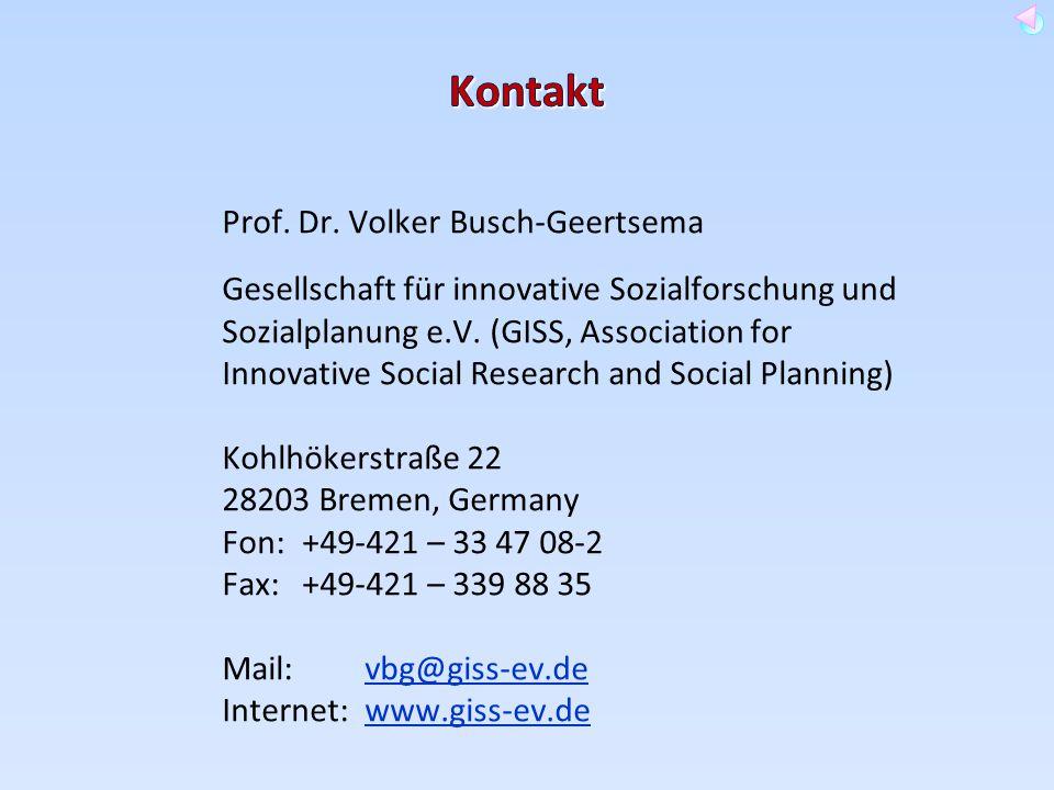 Kontakt Prof. Dr. Volker Busch-Geertsema.