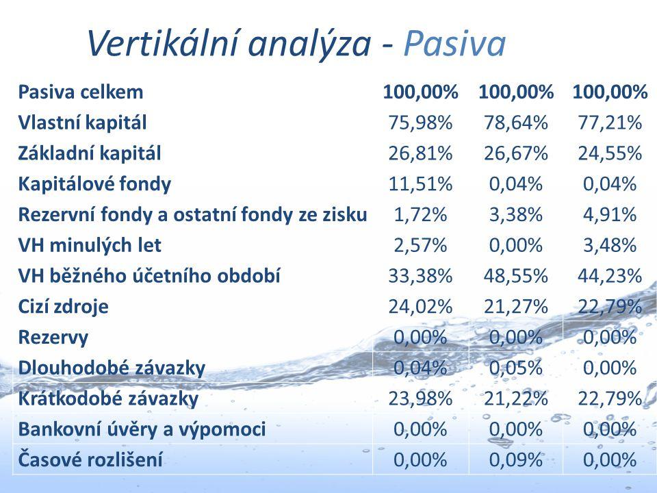 Vertikální analýza - Pasiva