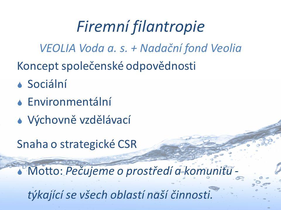 VEOLIA Voda a. s. + Nadační fond Veolia