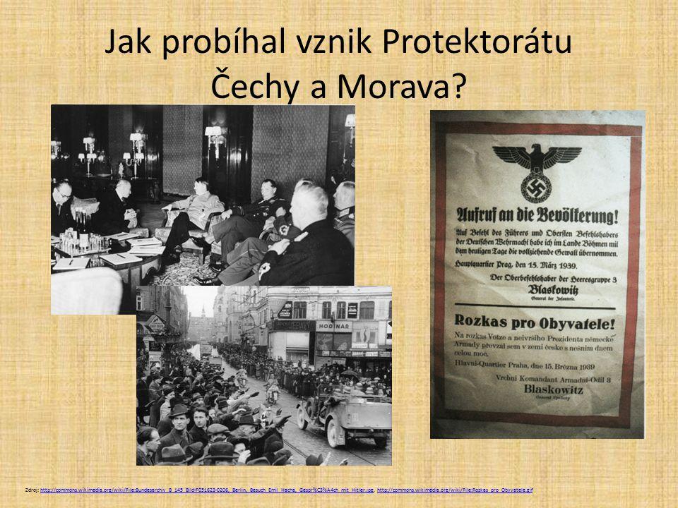 Jak probíhal vznik Protektorátu Čechy a Morava