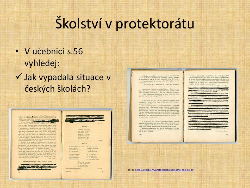Školství v protektorátu
