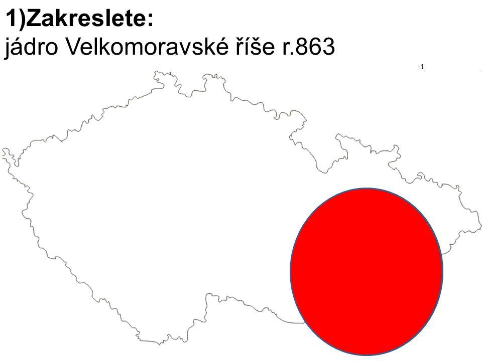 jádro Velkomoravské říše r.863