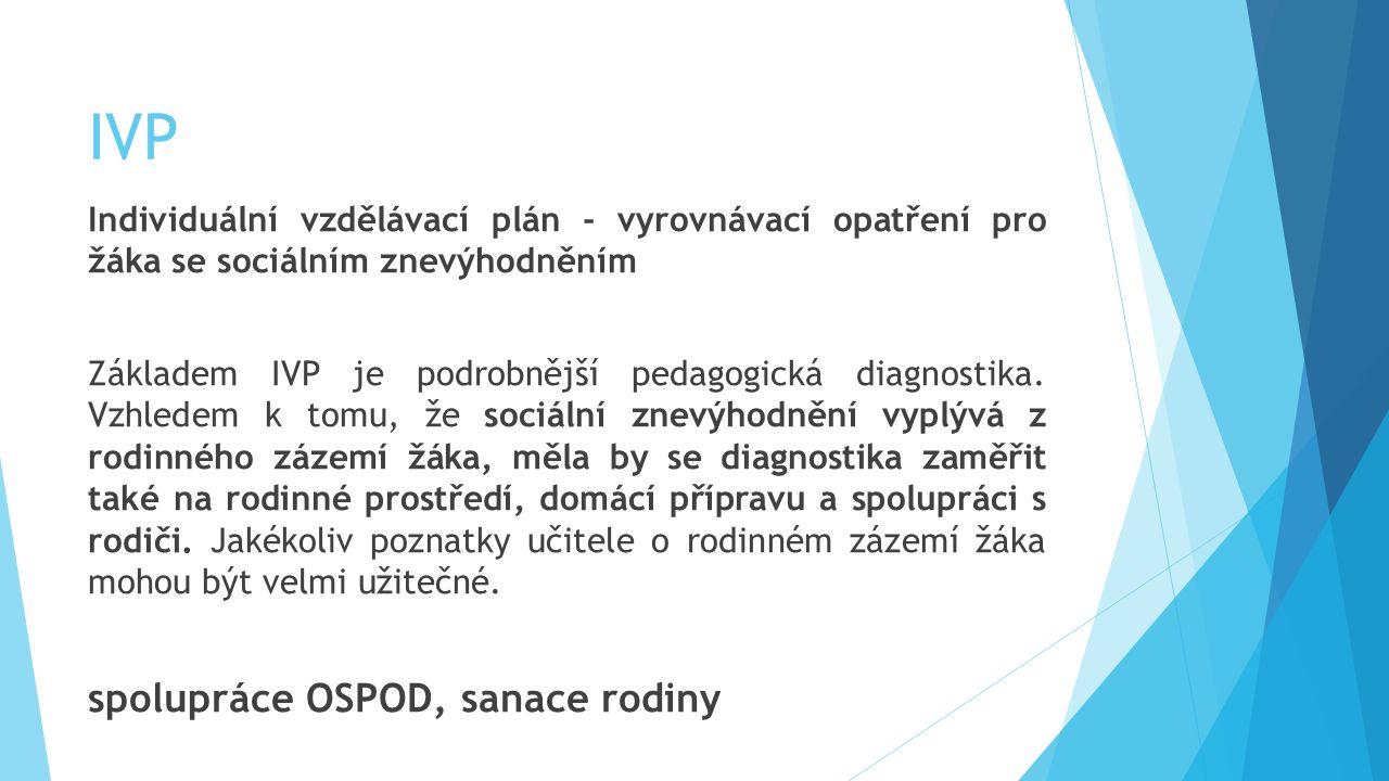 IVP spolupráce OSPOD, sanace rodiny