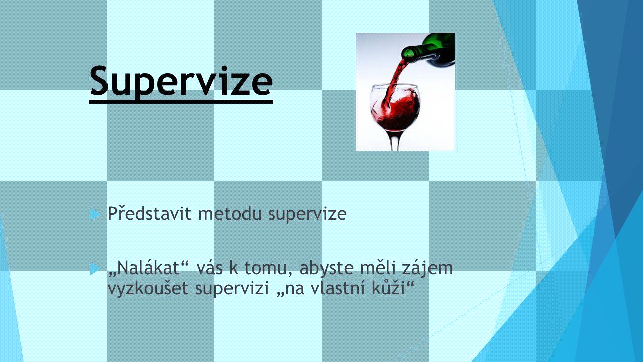 Supervize Představit metodu supervize