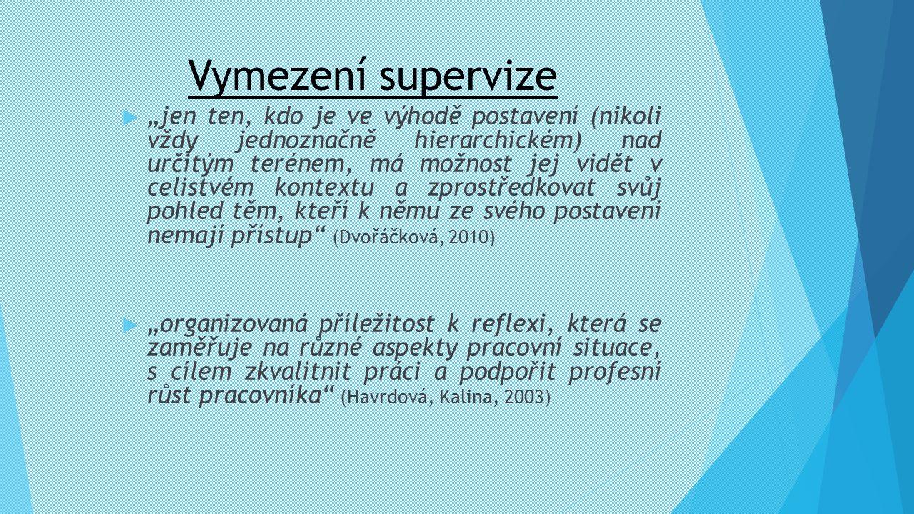 Vymezení supervize