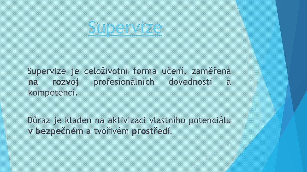 Supervize Supervize je celoživotní forma učení, zaměřená na rozvoj profesionálních dovedností a kompetencí.