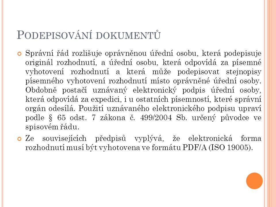 Podepisování dokumentů