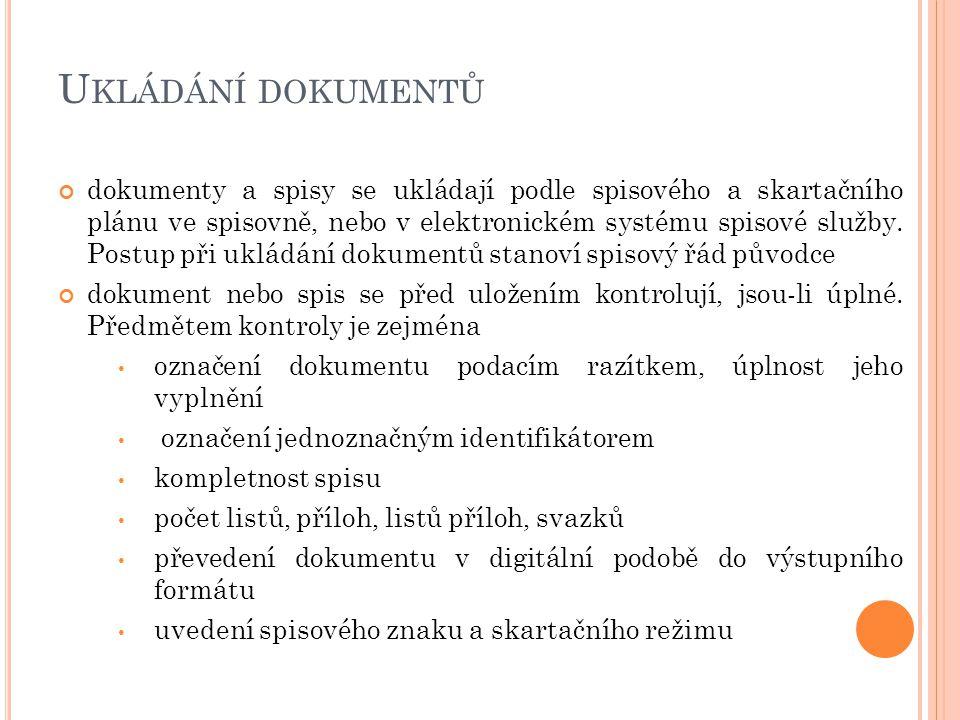 Ukládání dokumentů