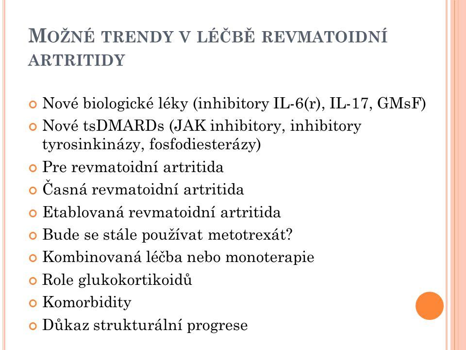 Možné trendy v léčbě revmatoidní artritidy