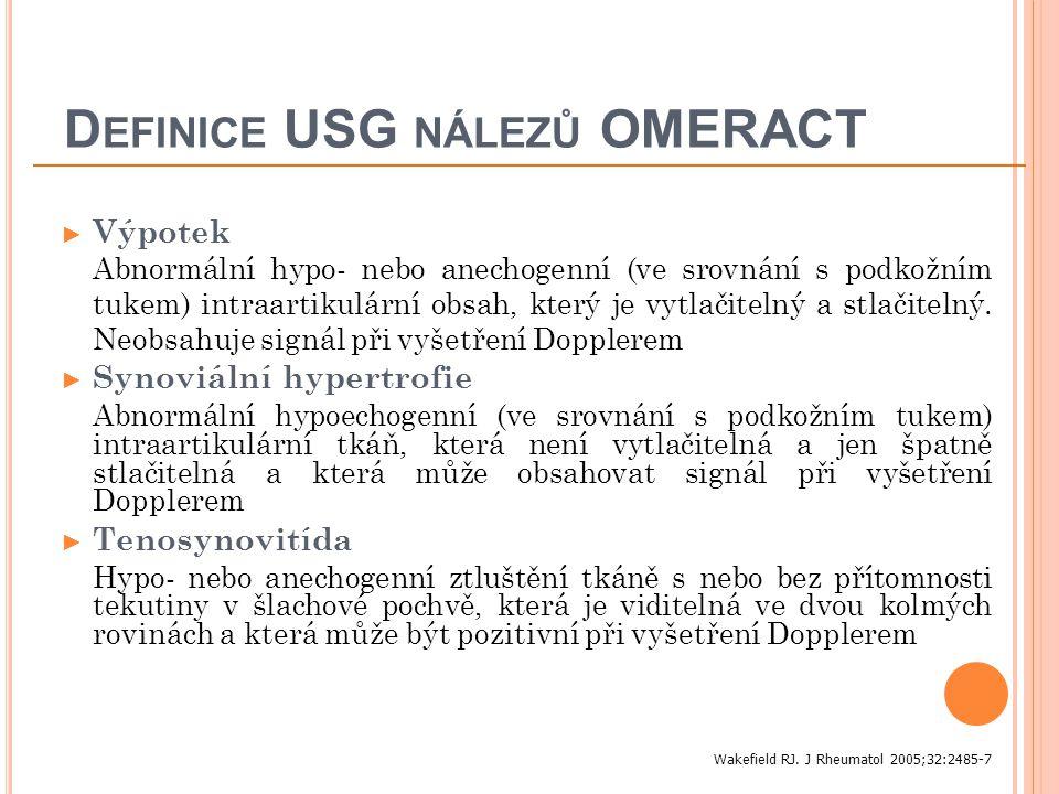 Definice USG nálezů OMERACT