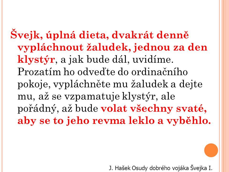 J. Hašek Osudy dobrého vojáka Švejka I.