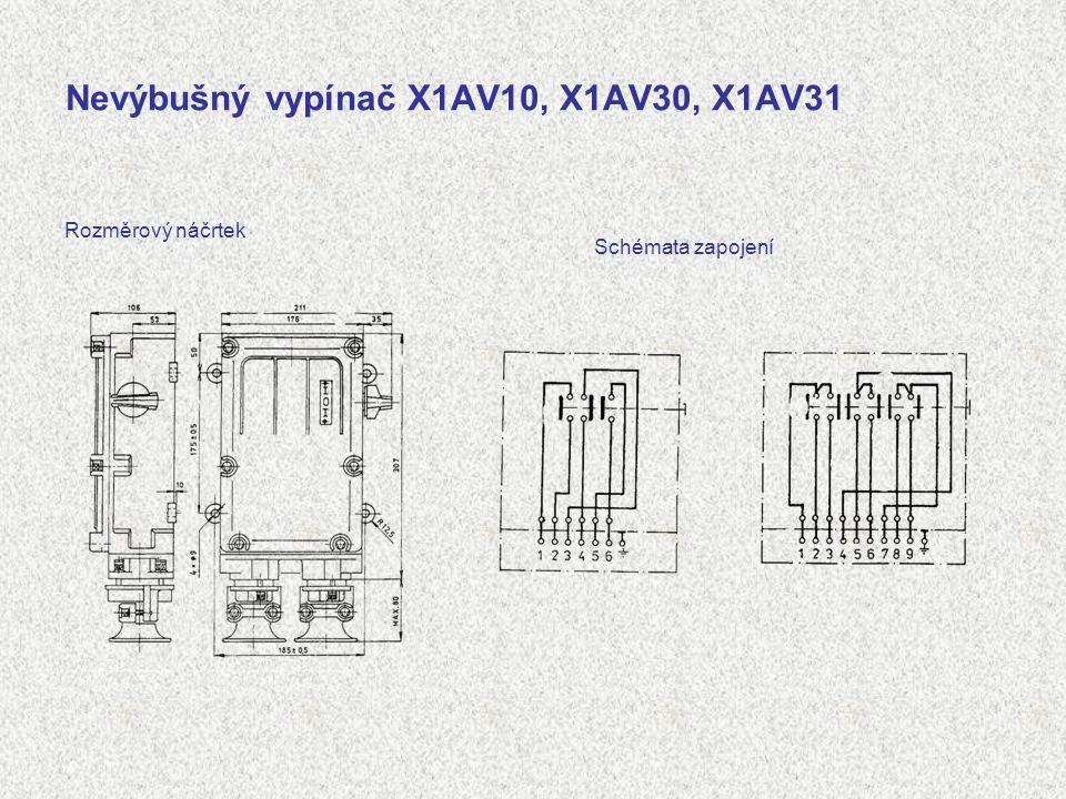 Nevýbušný vypínač X1AV10, X1AV30, X1AV31