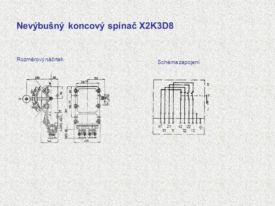 Nevýbušný koncový spínač X2K3D8