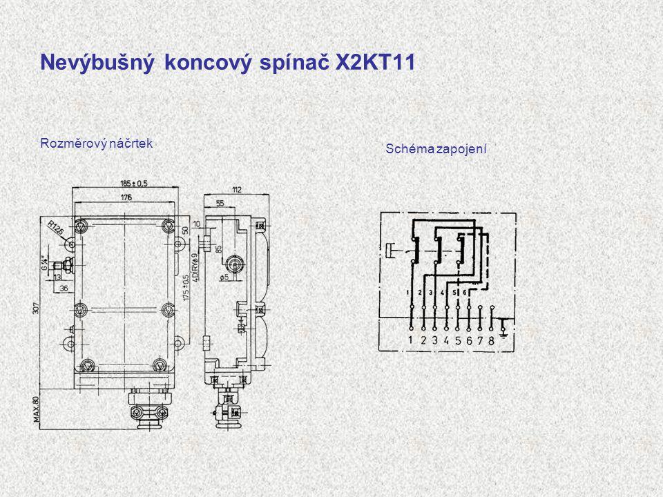 Nevýbušný koncový spínač X2KT11