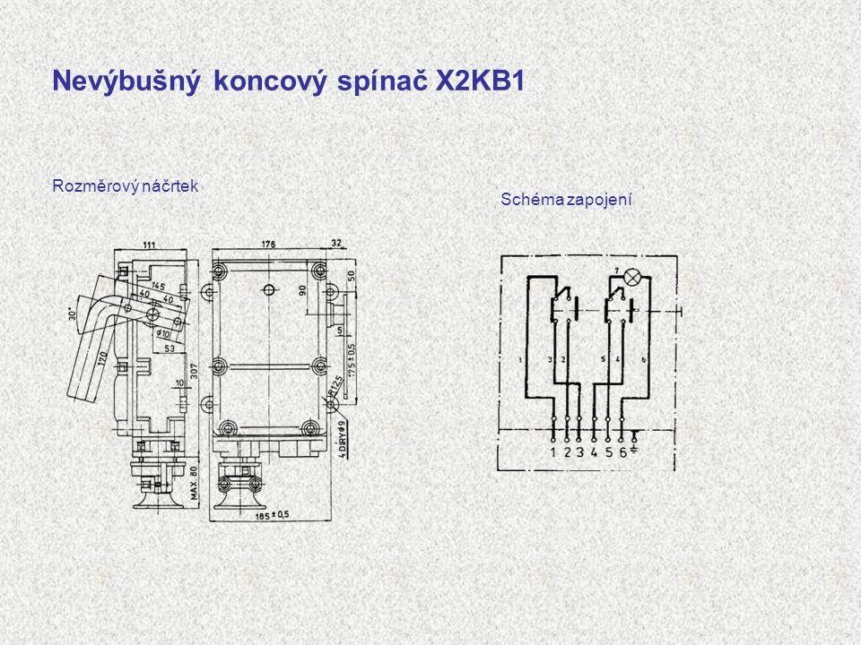Nevýbušný koncový spínač X2KB1