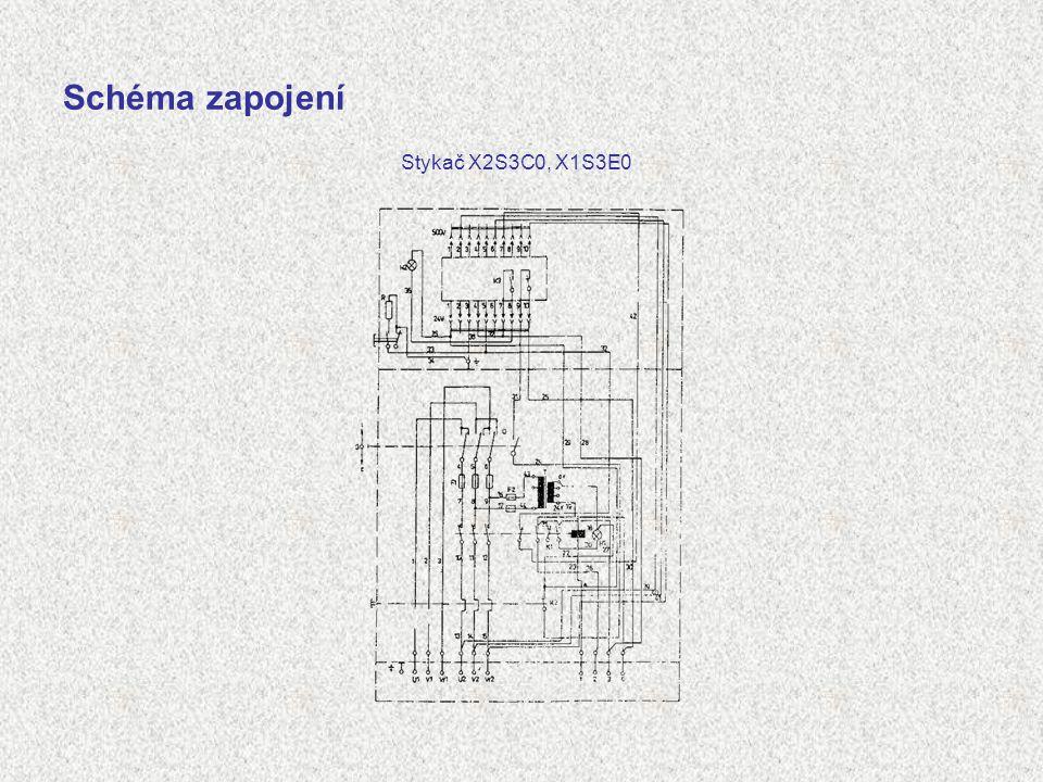 Schéma zapojení Stykač X2S3C0, X1S3E0