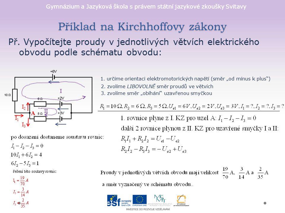 Příklad na Kirchhoffovy zákony
