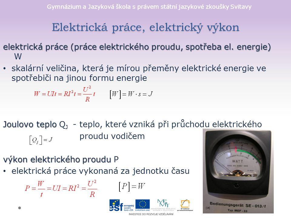 Elektrická práce, elektrický výkon