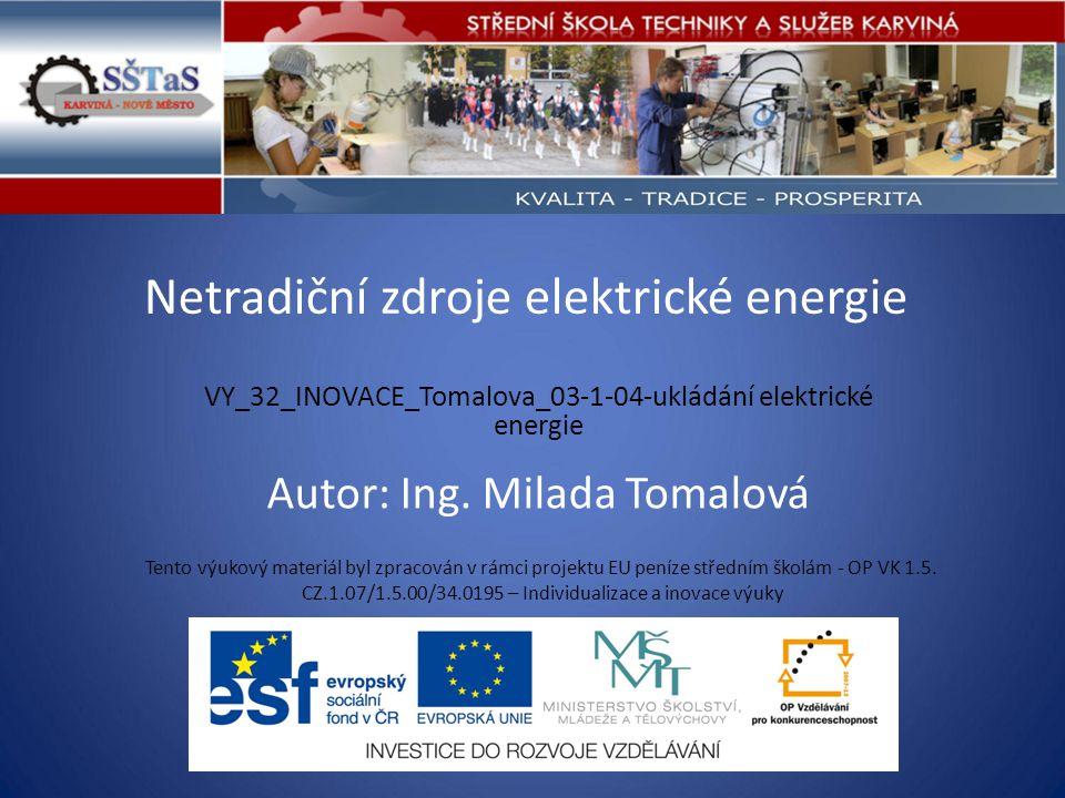 Netradiční zdroje elektrické energie