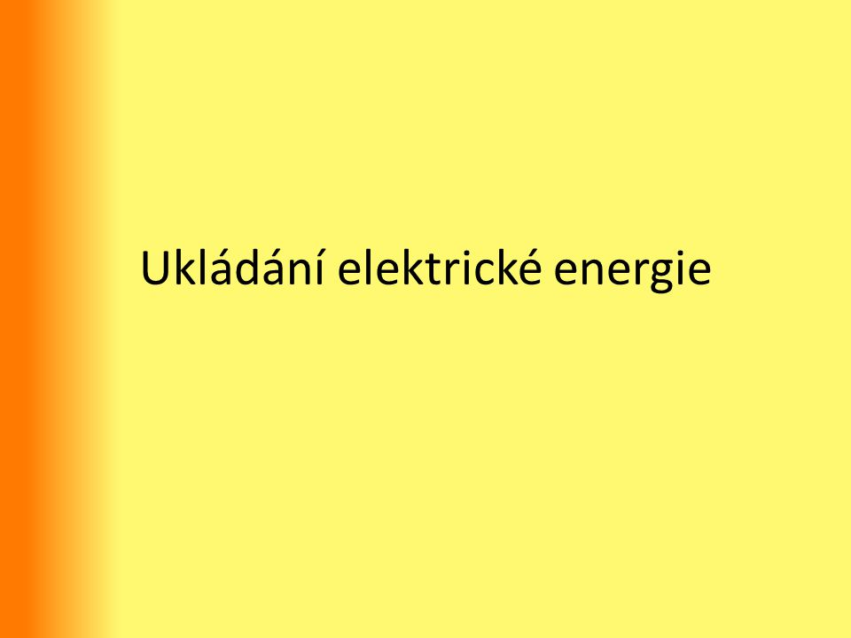Ukládání elektrické energie