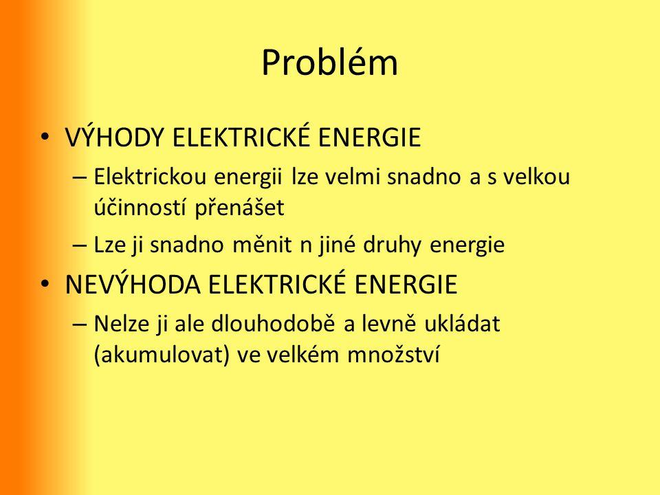 Problém VÝHODY ELEKTRICKÉ ENERGIE Nevýhoda elektrické energie