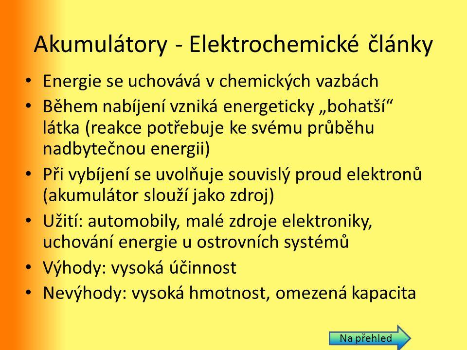 Akumulátory - Elektrochemické články
